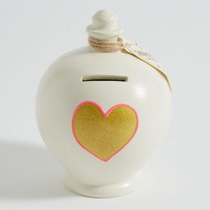 Gold Heart Money Pot