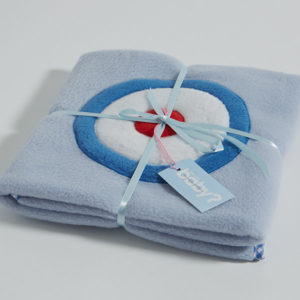 Target on blue design fleece