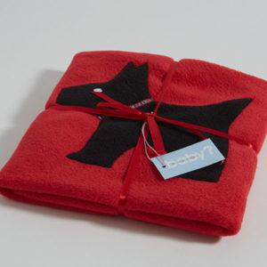 Scottie dog small blanket