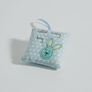 """Little Baby Boy"" mini hanging cushion"