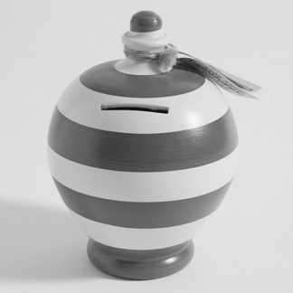 Colour Striped money pot