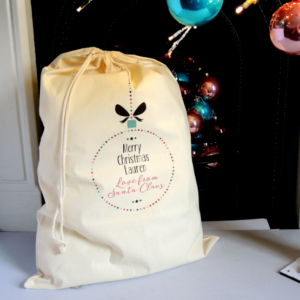 Personalised sack from santa