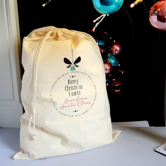 Personalised sack from santa