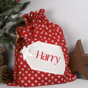 Starry santa Christmas sack