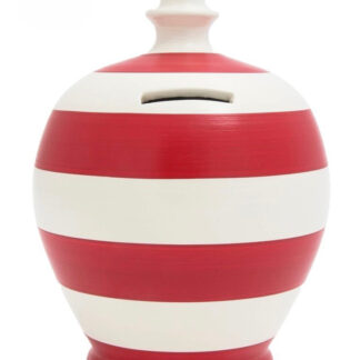 Money Saving Pot Red & White Striped
