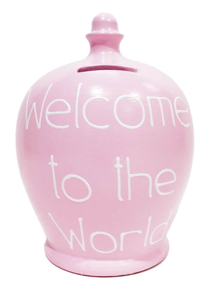 Money Pot Welcome to the World Gift for Baby Girl